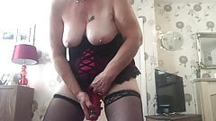 Granny jan stripping and smoking