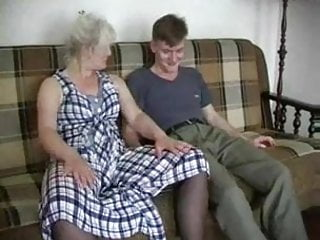 Teen boys in stockings Mature blonde in stockings fucks the boy