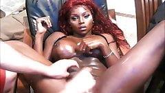 Big Boobs Black Tranny Geting A Handjob