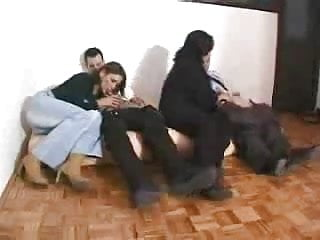 Mature young swingers Russian old and young swinger couple - episode 1