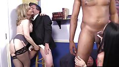 Sexy HotWife In Hot Threesome With A Babe And A BBC