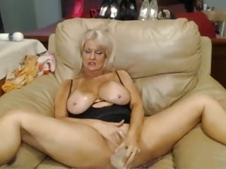 Sex with big pussy - Webcam - busty 47 year old slut with big pussy teasing, 3