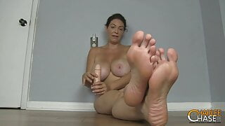 Big Boobed MILF Charlee Chase Wants You To Smell Her Feet!