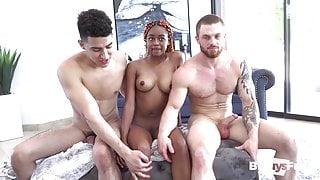 BiSEXUAL American and Latino COCKs indulge SEXY black girl.