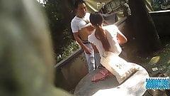 MILF Asian Prostitute Bareback Outside