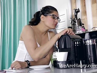 Young ananda xxx cartoon - Ananda ray makes coffee and masturbates