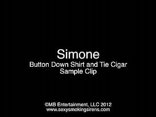 Down shirt nude photos - Simone button down shirt and tie cigar