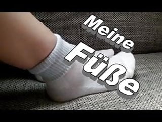 Girl white socks fetish - Funnyteengirl shows her feet with white socks