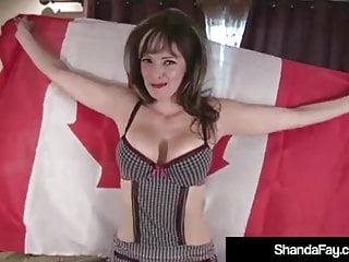 Fay girl pussy Horny housewife shanda fay penetrates her wet creamy pussy