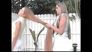Amie and Tiffany Brushing