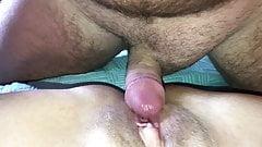 Papi follando mi gran coño y mis pies sexy con limpieza
