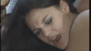 Hot older mature slut loves it when good looking young couple ass fuck her