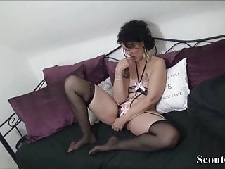 Mother and son fuck video - German step-son caught mother and get his first fuck