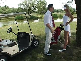 Vintage golf bag carts Golf cart fuck