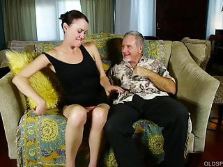 Super mom fucked Super sexy slim old spunker loves fucking and facials