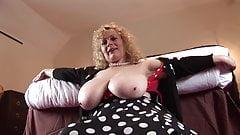 Gorgeous mature teacher exposes her massive tits