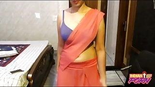 Indian Punjabi College Girl In Sari Exposing Clean Pussy