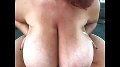 Ginger-Busty Monster Boobs Doggystyle Fuck Slomo