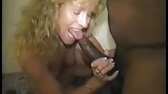 Curly Blonde Slut getting more BBC