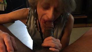 Granny blowing hard