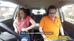 Fake Driving School Big tits Spanish learner loves sucking
