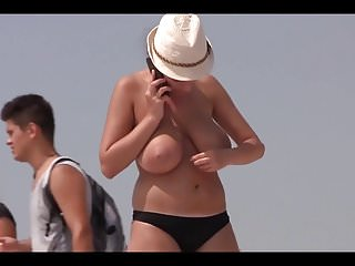 Chuby slut Big titted chuby on the beach