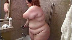 Big ass fatty in the shower