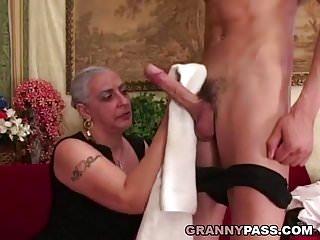 Granny suck huge cocks Granny sucks huge young cock