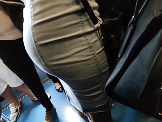 Hot office wifes sexy skirt - Sexy ass in tight jeans skirt omg candid hot