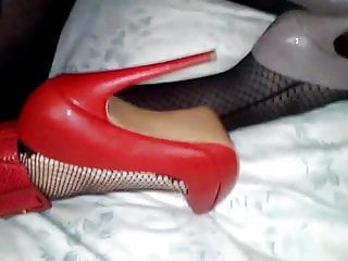 Girl in fishnet fucked Girl in fishnets and red heels fucked by crossdresser