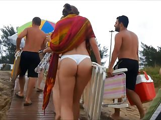 Teen thong butt Spy and voyeur beautiful butt and hot thong bikini