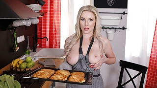 Mother knows how to cook and take cock