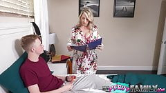 Stepmom Uses Big Natural Tits to Bribe Stepson