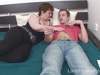 Hairy stud gets fucked - Young stud gets to fuck his stepmom