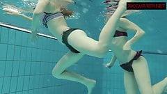 Nastya and Libuse sexy fun underwater