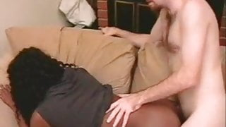 Filling Her Hot Black Pussy With Jizz