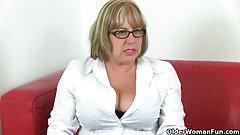 British granny Trisha can't control her sexual desire