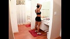 Watching Undress & Shower MILF Semmie DeSuora SloMo repeat