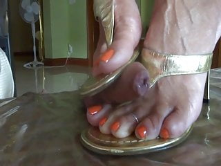 Tranny trampling Trample and shoejob