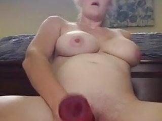 Large dildo pic Jess fucks herself with large dildo