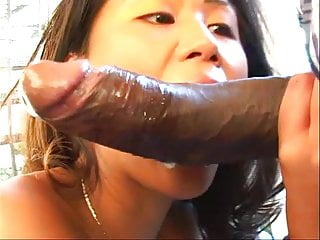 Tiny asian tranny Tiny asian gets throat pussy stuffed with huge cock