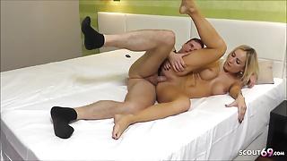 Real Hot German Teen Hooker Alex Filmed at Fuck by Client