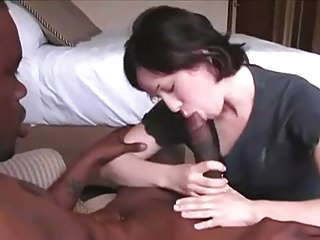 Mature ladyes Husband films his wife with a huge bbc