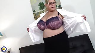 Step Mom with big natural tits and hungry cunt
