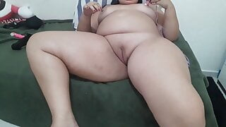 Playing with my pussy massager