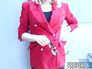 Womans black double breasted blazer - Propertysex - agent in red blazer fornicates in mansion