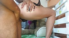dad fucks me in the morning while mom works - petite Latina
