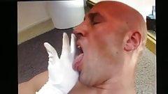 Blonde Female Feeds Male His Cum