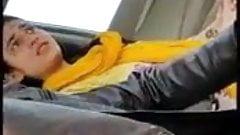 Desi girl Farri gives blowjob in car