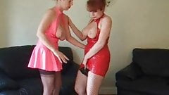 British lesbians playing with toys
